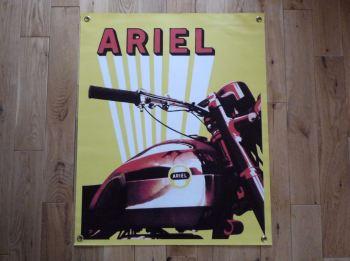 """Ariel Sunburst Art Banner. 22"""" x 27""""."""