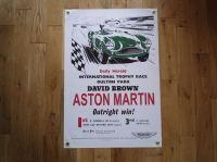"""Aston Martin International Trophy Race Winner Art Banner. 20"""" x 30""""."""