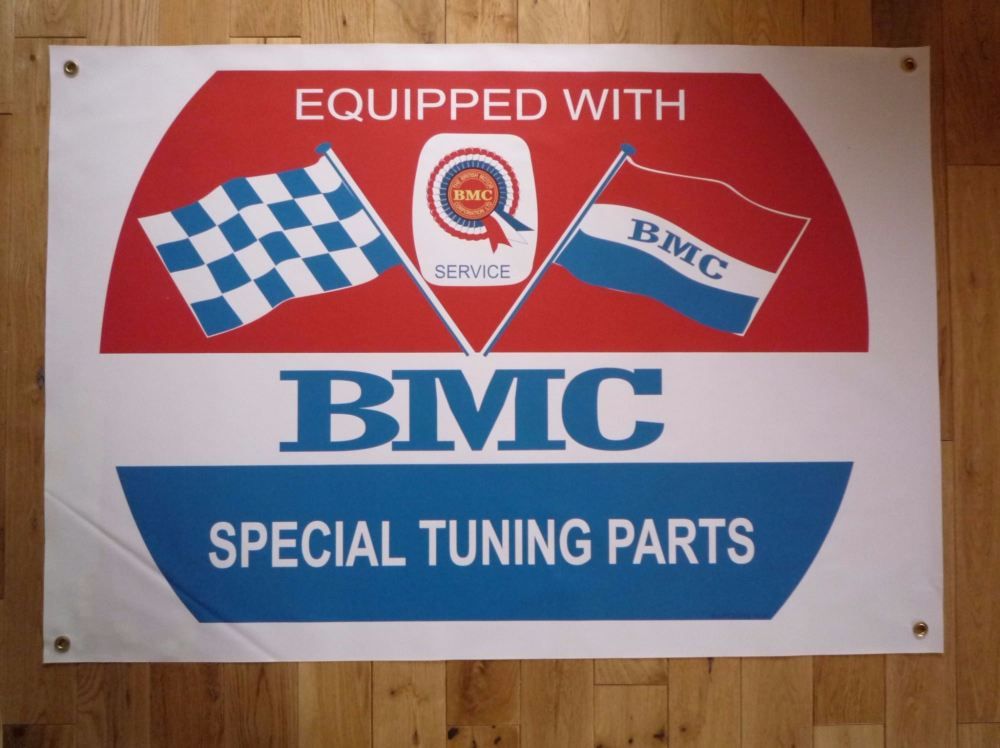 "BMC Barrel & Coloured Rosette Banner Art. 43"" x 30""."