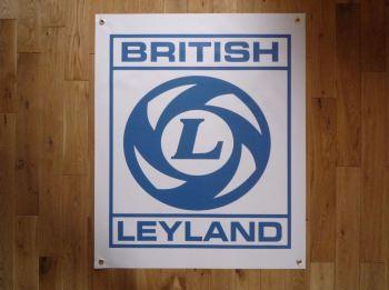 """British Leyland Logo Art Banner. 28"""" x 39""""."""
