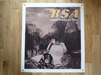 "BSA Leave It To Your BSA Banner Art. 30"" x 33""."