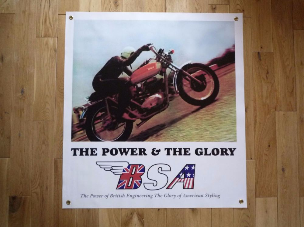"BSA The Power & The Glory Picture Banner Art. 28"" x 31""."