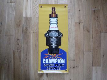 Champion Spark Plug Service Art Banner. Various Sizes.