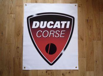 """Ducati Corse Banner Art Poster. 28""""."""