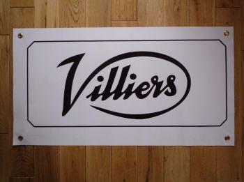 "Villiers Script Style Art Banner. 28""."