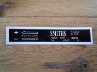 Smiths Heater Label FHM 1202/03 Sticker. 110mm.