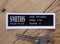 Smiths Heater Label FHR 2428/12 Sticker. 73mm.