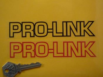 "Pro-Link Oblong Stickers. 6"" Pair."