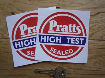 "Pratts High Test Sealed Circular Stickers. 4"" or 6"" Pair."