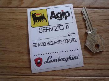"""Lamborghini & Agip Servizio A Service Sticker. 3""""."""