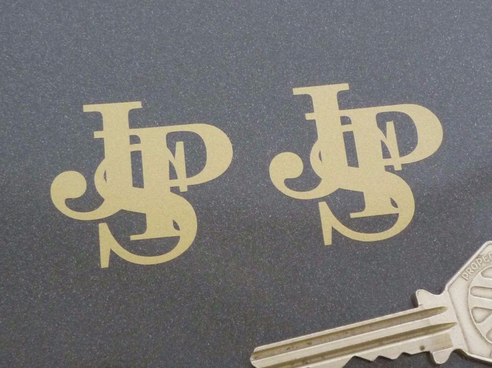 "John Player Special JPS Logo Cut Vinyl Stickers. 1.5"" Pair."