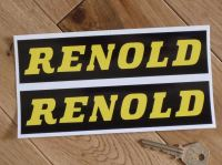 Renold Black & Yellow Oblong Stickers. 7