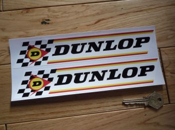 "Dunlop Check & Thin Stripes Stickers. 9"" Pair."