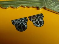 Smiths MA Black & Foil Shaped Heater Label Stickers. 12mm.
