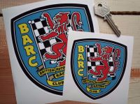 "BARC British Automobile Racing Club Shield Sticker. 4"" or 6""."