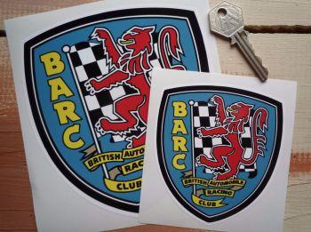 "BARC British Automobile Racing Club Shield Sticker. 4"" or 6""."