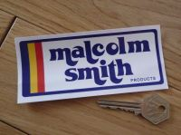 "Malcolm Smith Products Rounded Oblong Sticker. 3"" or 5""."