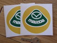 Mazda Lotus Style Logo Circular Stickers. 4