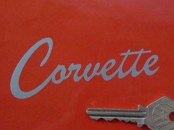 "Corvette Old Style Script Cut Vinyl Sticker. 4""."