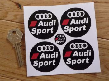 Audi Sport Wheel Centre Stickers. Set of 4. 50mm.