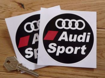 "Audi Sport Circular Stickers. 3.5"" Pair."