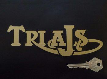 """TriAJS Cut Text Stickers. 7"""" Pair."""