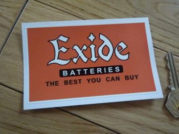 "Exide Batteries, The Best You Can Buy, Oblong Sticker. 4.75""."