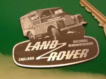 "Land Rover Defender & Logo Shaped Self Adhesive Car Badge. 3""."