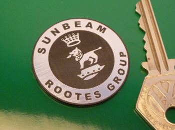 "Sunbeam Rootes Group Self Adhesive Car Badge. 1.5""."