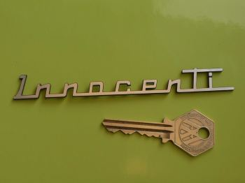"Innocenti Script Style Laser Cut Self Adhesive Scooter Badge. 5""."