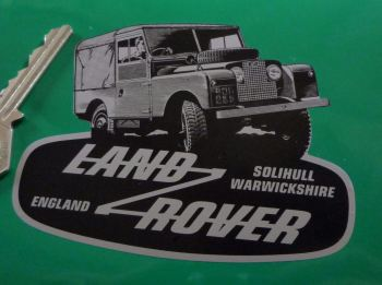 "Land Rover Defender & Logo Shaped Sticker. 4""."