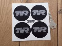 TVR Black to Edge style Wheel Centre Stickers. Set of 4. 47mm, 58mm or 60mm.