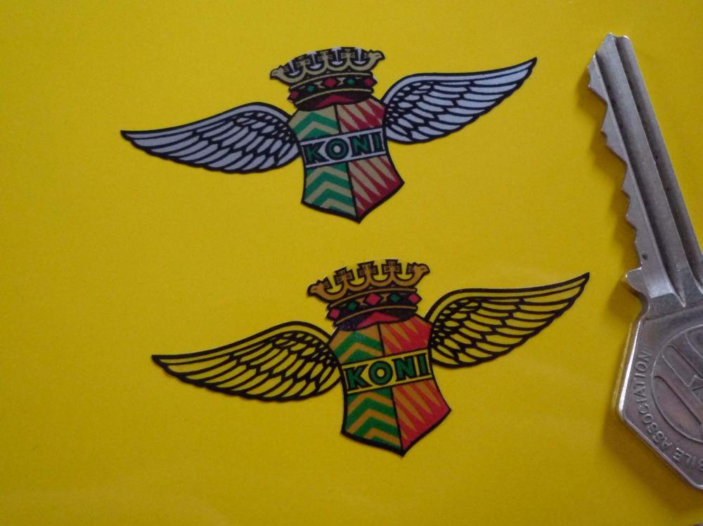 Koni 'King Wings' Shaped Stickers. Set of 4. 1.5
