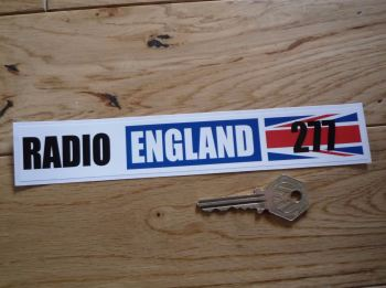 "Radio England 277 1960's Pirate Radio Sticker. 8""."