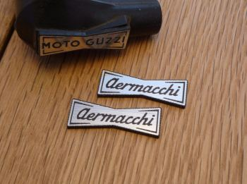 Aermacchi Champion Spark Plug HT Cap Cover Badges. 29mm Pair.