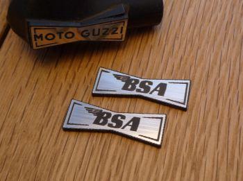 BSA Champion Spark Plug HT Cap Cover Badges. 29mm Pair.