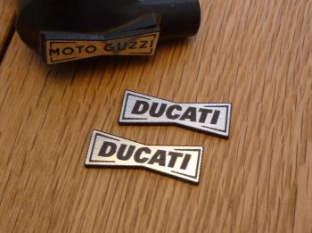Ducati Champion Spark Plug HT Cap Cover Badges. 29mm Pair.