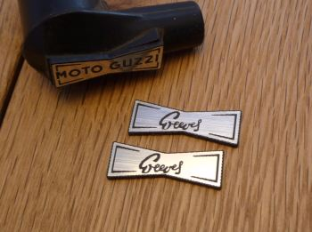 Greeves Champion Spark Plug HT Cap Cover Badges. 29mm Pair.