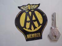 AA Member Worn & Distressed Style Car Sticker. 3.5
