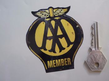 "AA Member Worn & Distressed Style Car Sticker. 3.5""."