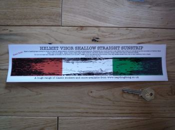 "Ireland Flag Worn & Distressed Helmet Visor Straight Sunstrip Sticker. 12"". 35mm or 50mm Tall."