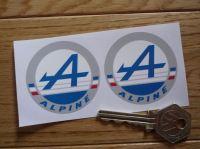 Alpine Logo Circular Stickers. 2