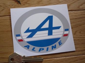 "Alpine Logo Oval Sticker. 4.5""."