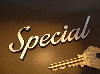 "Special Slanted Script Style Laser Cut Self Adhesive Car Badge. 4""."