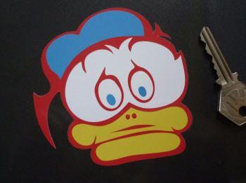 "Barry Sheene Duck Logo Sticker. 3.75""."
