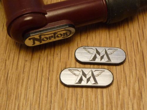 Matchless NGK Spark Plug HT Cap Cover Badges  22mm Pair