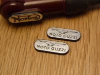 Moto Guzzi NGK Spark Plug HT Cap Cover Badges. 22mm Pair.