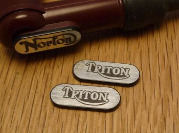 Triton NGK Spark Plug HT Cap Cover Badges. 22mm Pair.