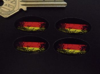 German Fade To Black Oval Stickers. Set of 4. 30mm or 50mm.