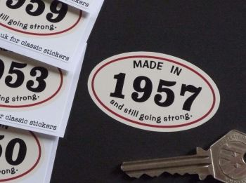 Made In 1950's And Still Going Strong Sticker. 60mm. 1950 - 1959.